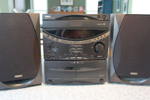 Yamaha Mini-Component System GX-50 with Speakers and Remote