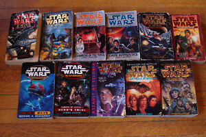 Star Wars Paperback Novels 11 Book Lot