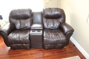 Two Seat Leather Recliner