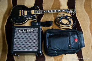 Les Paul Costum pro Epiphone Guitar with Amps (CUBE)