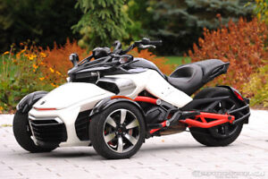 2015 Can Am Spyder F3-S 6 spd Manual White Red Frame 1500km
