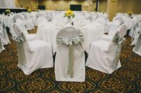 Chair Covers, Sashes, Tableclothes and Table Runners