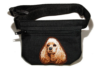 Cocker Spaniel Treat - Cocker Spaniel gift - Embroidered Dog treat pouch/bag - for dog shows.