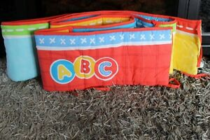 ABC Elmo Sesame Street Crib Bumper Pad & Fitted Sheet