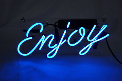 Enjoy Neon Sign Light Beer Bar Pub Wall Poster Club Party We