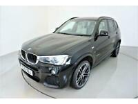 2016 BMW X3 2.0 XDRIVE20D M SPORT 5d AUTO 188 BHP-2 OWNER CAR-ALPINE WHITE NEVAD