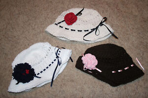 3 Brand New Handmade Girls Hats