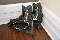 2 pairs of rollerblades