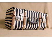 2 Größen Set 2 Holzkoffer Oldtimer Koffer Kinderkoffer beschriftet M u L