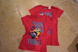 Girls Despicable Me 2 T-Shirts- Sizes 7/8 & 10/12 BRAND NEW Oakville / Halton Region Toronto (GTA) image 1