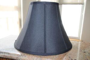 Black Silk Lamp Shade with Gold Interior
