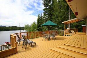 Gorgeous Lakefront Home with Beachfront & Shop on Horsefly Lake!