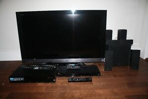 Sony LCD TV, 5.1Ch Surround Sound and Blue Ray Disk Player
