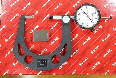Starrett Automotive Dial Indicating Disc Brake Gauge Gage Micrometer 0.3-2.0