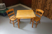 antique childs table and chairs