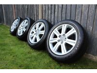 "Audi A4 17"" Alloy Wheels And Excellent Tyres, 5x112, 225/50r17"