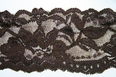 Brown Scalloped ($1 yard DARK BROWN scalloped stretch LINGERIE lace 2