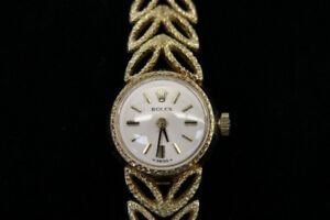 ** $6,500 VALUE ** 14k Gold Lady's Rolex Manual Wind Watch