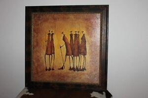 enssemble de masque africain et cheval en bois