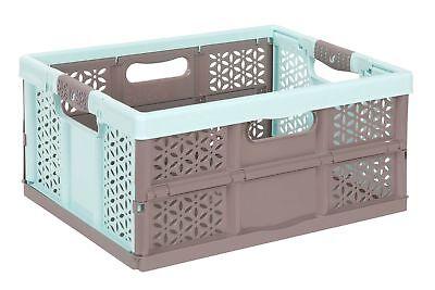 Profesional Caja Plegable con Mango Suave Aquamarin / Braun 32 L de Transporte