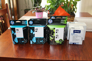 7 NEW HP COLOUR  AND BLACK INK CARDRIDGES  -$90