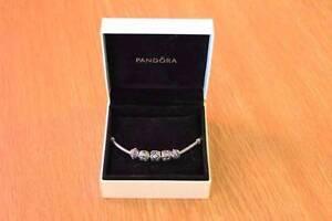 Genuine Pandora Necklace, box and and Silver Charms Glen Forrest Mundaring Area Preview