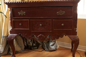Reproduction Antique Mahogany side table