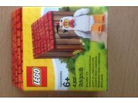 Lego chick and random mixed Lego figures