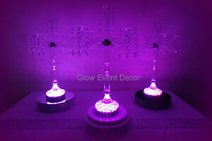 Glass Candelabra - 5 Arm LED for Hire Woodcroft Morphett Vale Area Preview