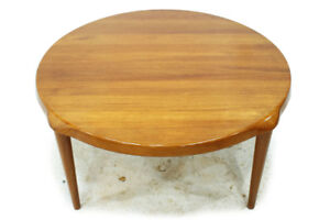 Vintage Mid Century  Modern Solid Teak Round Coffee Table