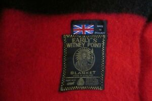 Early's Witney  5 Point Wool Blanket in Red/Black New Condition