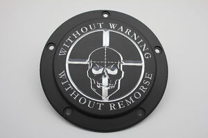 """Sniper """"Without Warning"""" Contrast Harley Davidson Derby Cover"""