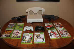 Almost New X-Box 360 + Kinect Package
