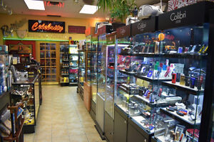 Established Tabacco & Gift Store with a Busy Lottery Terminal