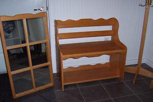 Four piece WHite Oak furniture set