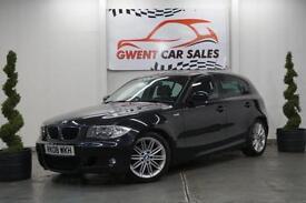 2008 08 BMW 1 SERIES 2.0 120D M SPORT MANUAL 5 DOOR IN BLACK DIESEL