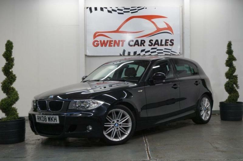 2008 08 BMW 1 SERIES 2.0 120D M SPORT MANUAL 5 DOOR IN BLACK DIESEL ...