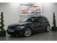 2008 08 BMW 1 SERIES 2.0 120D M SPORT MANUAL 5 DOOR IN BLACK DIESEL