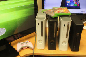 "Bundle: 4X  - XBOX 360 + 50"" TV  /READY TO USE / PERFECT FOR KID"
