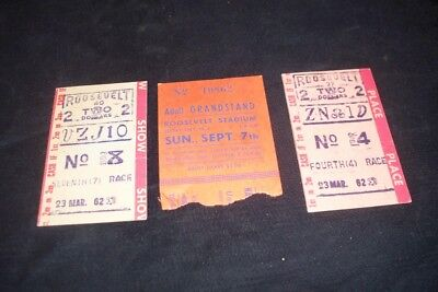 Vintage Lot 1958 1962 Roosevelt Stadium NJ Horse Racing Bet Tickets Grandstand