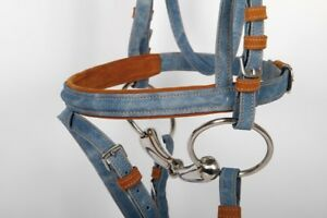 NEW ENGLISH DENIM BRIDLE WITH REINS