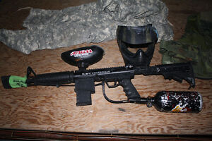 BT OMEGA WORKS Paintball package, Cool gun with air tank mask, Kingston Kingston Area image 2