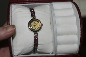 IVANA TRUMP Watch with Colored Stones in Wristband