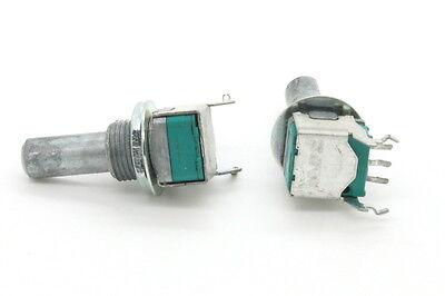 2 X 9mm Alps B50k 50k Linear Taper Potentiometer 20mm D Shaft Vertical Pc Mount