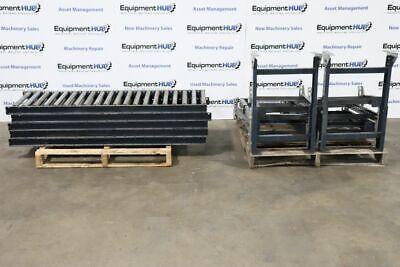 5 5 L X 18 W Gravity Roller Conveyor With 10 Adjustable Legs