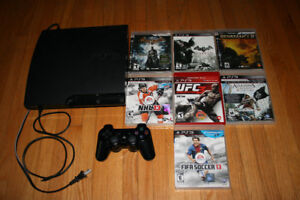 Slim playstation 3 with games