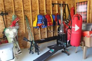 Home Gym and heavy bag