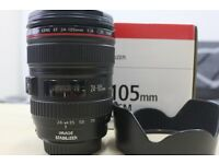 CANON 24-105 f4 lens