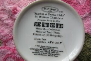 collecter Gone with The Wind Music box