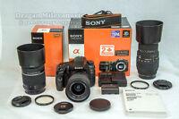 SONY SLT-A57 16,1 mp avec 4 lentilles